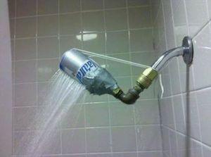 Redneck shower head!