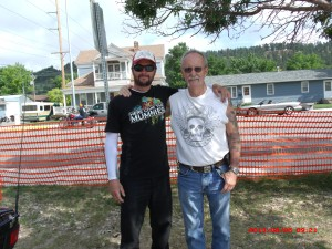 My son, Jeremy, and me at the Sturgis rally.
