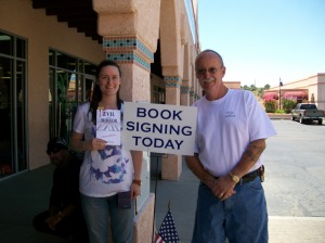 My lovely daughter and I at a Sedona, Arizona, book signing of Evil in the Mirror