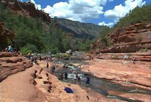 Slide Rock, Oak Creek Canyon, Arizona.