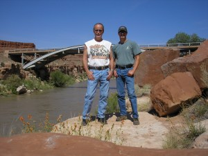 Jay and I at the Little Colorado River.
