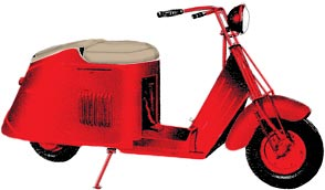 Cushman scooter in the 50's